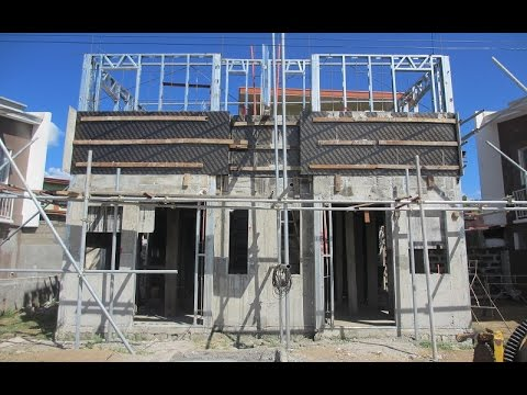 Philippines low cost housing construction progress pt 1 for Cost of building a house in philippines