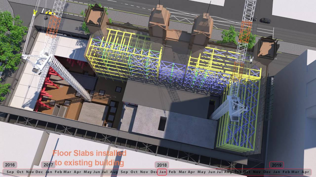 Hotel Windsor 4D Construction Sequence Animation nm